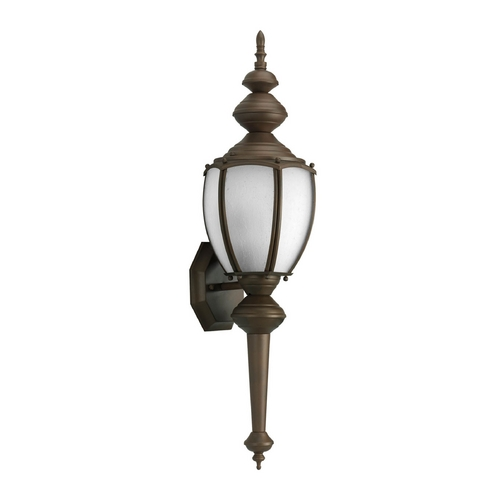 Progress Lighting Etched Seeded Glass Outdoor Wall Light Bronze Progress Lighting P5772-20