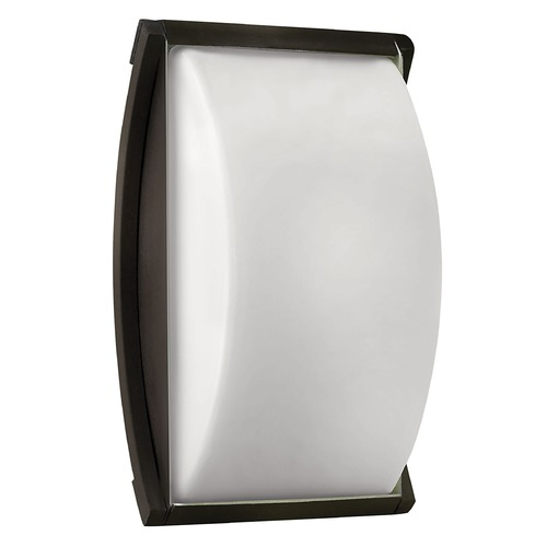 Hinkley Lighting Modern Outdoor Wall Light with White Glass in Bronze Finish 1650BZ