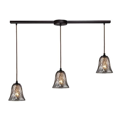 Elk Lighting Multi-Light Pendant Light with Brown Glass and 3-Lights 46000/3L