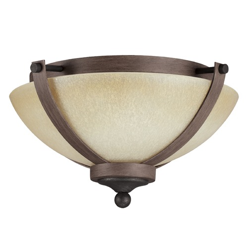 Sea Gull Lighting Sea Gull Lighting Corbeille Stardust / Cerused Oak Flushmount Light 7580402-846