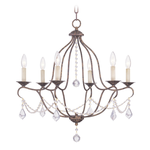 Livex Lighting Livex Lighting Chesterfield Venetian Golden Bronze Crystal Chandelier 6426-71