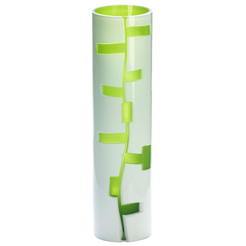Cyan Design Cyan Design Danish White & Green Vase 04243