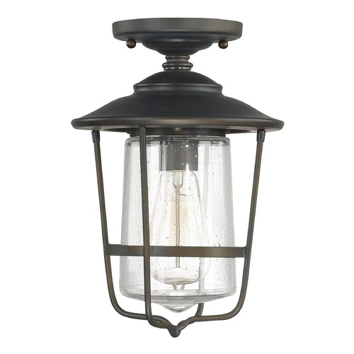 Capital Lighting Seeded Glass Close To Ceiling Light Bronze Capital Lighting 9607OB