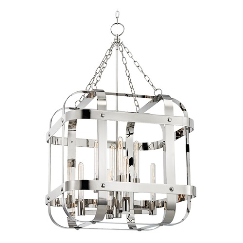 Hudson Valley Lighting Hudson Valley Lighting Colchester Polished Nickel Pendant Light with Square Shade 6925-PN