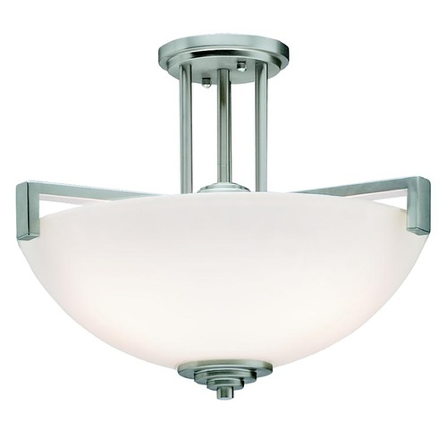 Kichler Lighting Kichler Lighting Eileen Brushed Nickel LED Pendant Light with Bowl / Dome Shade 3797NIL16