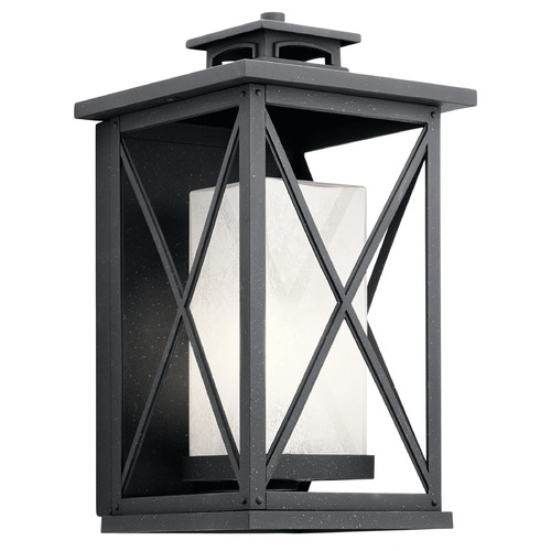 Kichler Lighting Kichler Lighting Piedmont Distressed Black Outdoor Wall Light 49772DBK