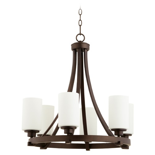 Quorum Lighting Quorum Lighting Lancaster Oiled Bronze Chandelier 6207-6-86