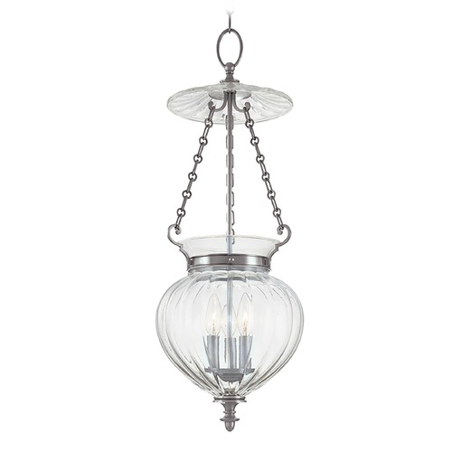 Hudson Valley Lighting Pendant Light with Clear Glass in Polished Nickel Finish 783-PN