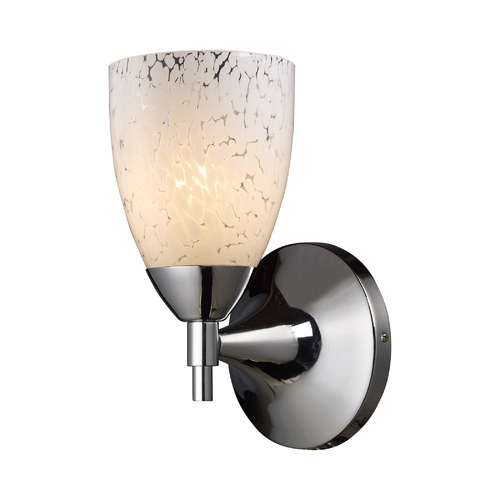 Elk Lighting Sconce Wall Light with Art Glass in Polished Chrome Finish 10150/1PC-SW