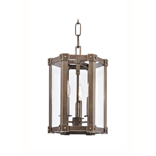 Hudson Valley Lighting Modern Pendant Light with Clear Glass in Distressed Bronze Finish 6210-DB