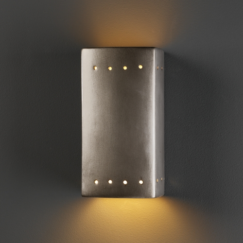 Justice Design Group Outdoor Wall Light in Antique Silver Finish CER-0925W-ANTS