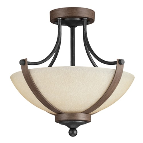 Sea Gull Lighting Sea Gull Lighting Corbeille Stardust / Cerused Oak Semi-Flushmount Light 7780402-846