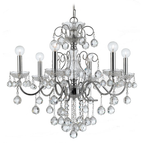 Crystorama Lighting Crystorama Lighting Imperial Polished Chrome Crystal Chandelier 3326-CH-CL-MWP