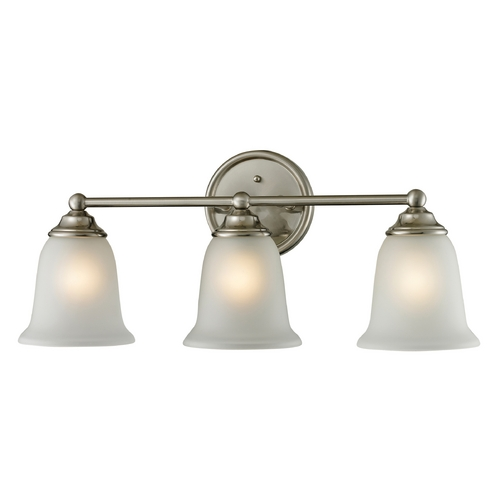 Cornerstone Lighting Cornerstone Lighting Sudbury Brushed Nickel Bathroom Light 5603BB/20