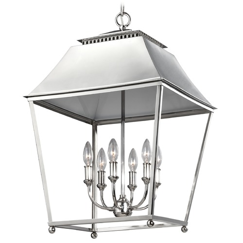 Feiss Lighting Feiss Lighting Galloway Polished Nickel Pendant Light F3090/6PN