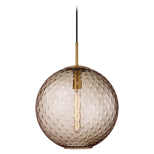 Hudson Valley Lighting Hudson Valley Lighting Rousseau Aged Brass Pendant Light with Globe Shade 2015-AGB-BZ