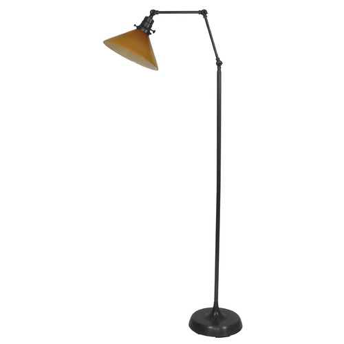 House of Troy Lighting House Of Troy Otis Oil Rubbed Bronze Floor Lamp with Conical Shade OT600-OB-AM