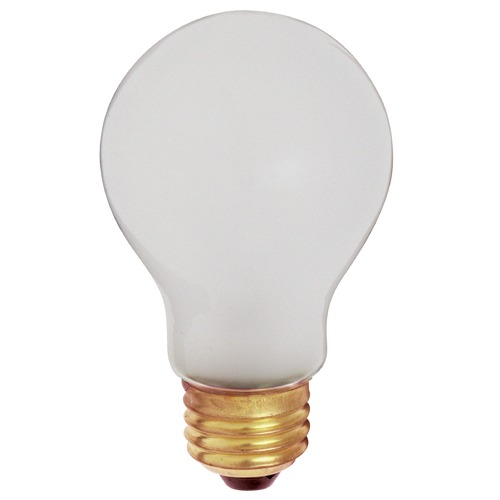 Satco Lighting Incandescent A19 Light Bulb Medium Base 2700K 130V by Satco S3931