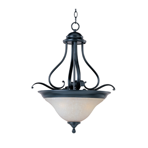 Maxim Lighting Maxim Lighting Linda Black Pendant Light with Bell Shade 11802ICBK