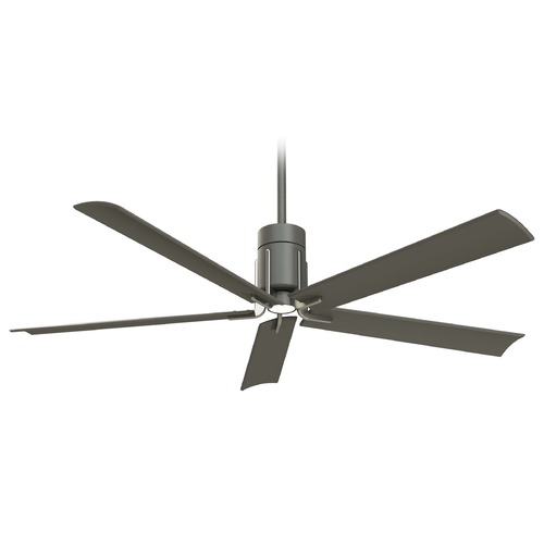 Minka Aire Minka Aire Clean Grey Iron LED Ceiling Fan with Light F684L-GI/BN