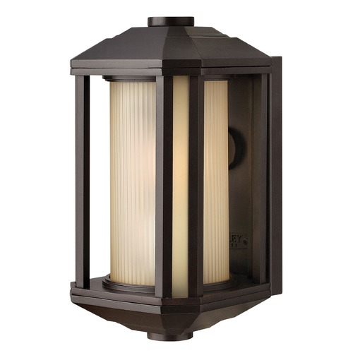 Hinkley Lighting Outdoor Wall Light with Amber Glass in Bronze Finish 1396BZ