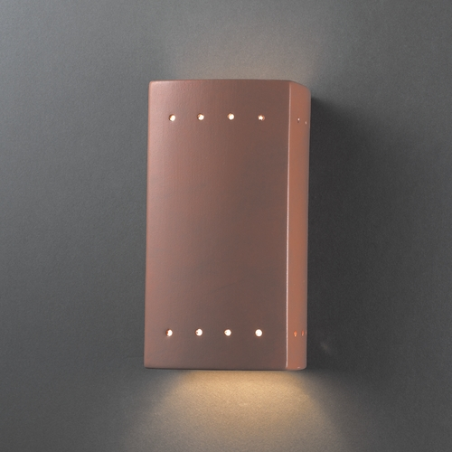 Justice Design Group Outdoor Wall Light in Terra Cotta Finish CER-0925W-TERA