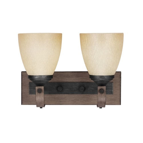 Sea Gull Lighting Sea Gull Lighting Corbeille Stardust / Cerused Oak Bathroom Light 4480402-846