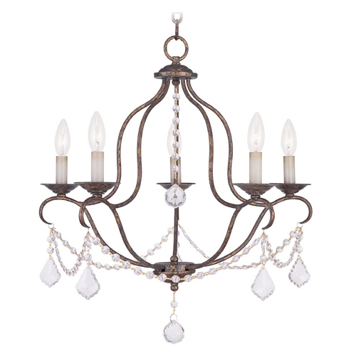 Livex Lighting Livex Lighting Chesterfield Venetian Golden Bronze Crystal Chandelier 6435-71