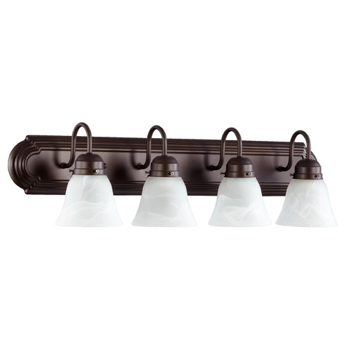 Quorum Lighting Quorum Lighting Oiled Bronze Bathroom Light 5094-4-186