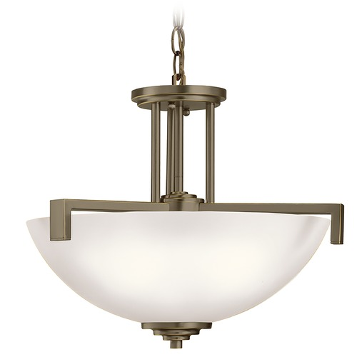 Kichler Lighting Kichler Lighting Eileen Olde Bronze Pendant Light with Bowl / Dome Shade 3797OZS