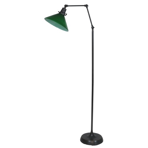 House of Troy Lighting House Of Troy Otis Oil Rubbed Bronze Floor Lamp with Conical Shade OT600-OB-GR
