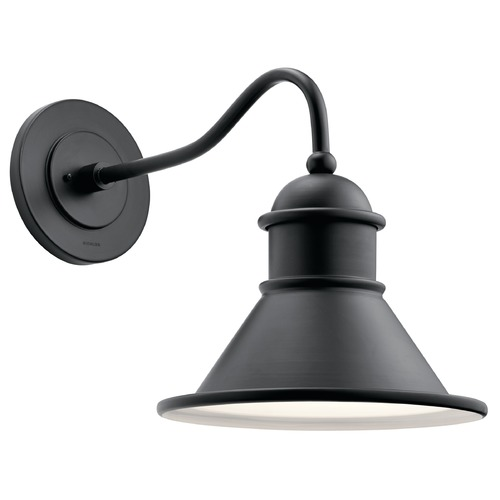 Kichler Lighting Farmhouse Barn Light Outdoor Wall Light Black by Kichler Lighting  49776BK