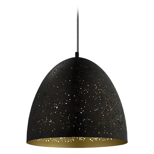 Eglo Lighting Eglo Safi Matte Black Pendant Light with Bowl / Dome Shade 202081A