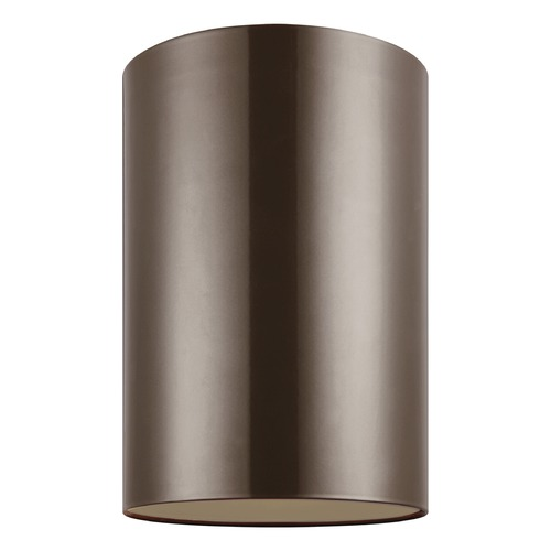Sea Gull Lighting Sea Gull Lighting Outdoor Cylinders Bronze LED Close To Ceiling Light 7813997S-10
