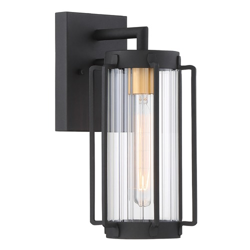 Minka Lavery Minka Lavery Avonlea Sand Black with Gold Socket Outdoor Wall Light 72731-66G