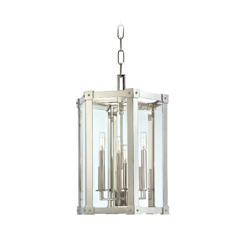 Hudson Valley Lighting Modern Pendant Light with Clear Glass in Aged Brass Finish 6215-AGB