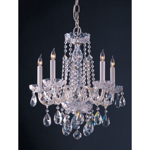 Crystorama Lighting Crystal Mini-Chandelier in Polished Chrome Finish 1061-CH-CL-SAQ