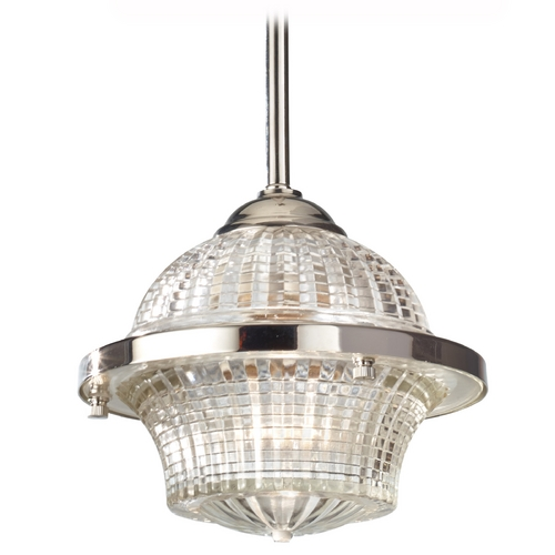Feiss Lighting Mini-Pendant Light with Clear Glass P1266PN