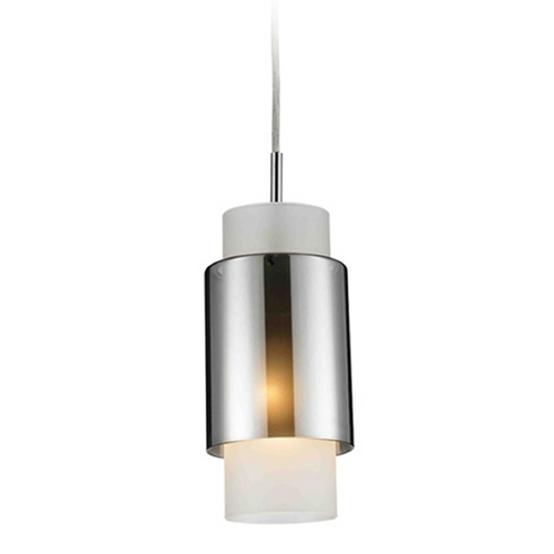 Maxilite Lighting Modern Mini-Pendant Light with White Glass MX2202-11