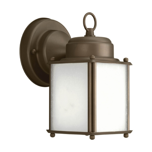 Progress Lighting Progress Outdoor Wall Light with White in Antique Bronze Finish P5986-20