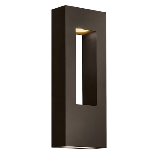 Hinkley Lighting Modern LED Outdoor Wall Light in Bronze Finish 1648BZ-LED
