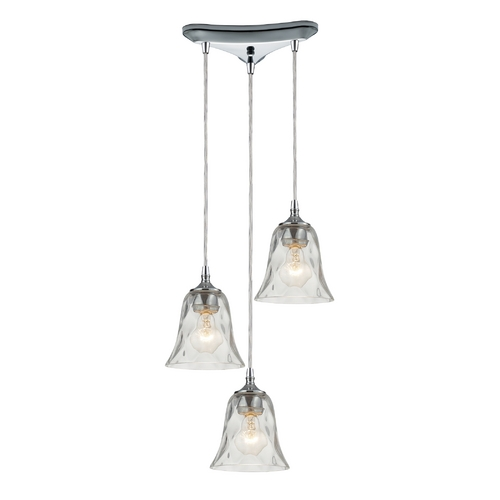 Elk Lighting Multi-Light Pendant Light with Clear Glass and 3-Lights 46010/3