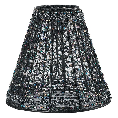 Crystorama Lighting Black Empire Lamp Shade with Clip-On Assembly 3SH
