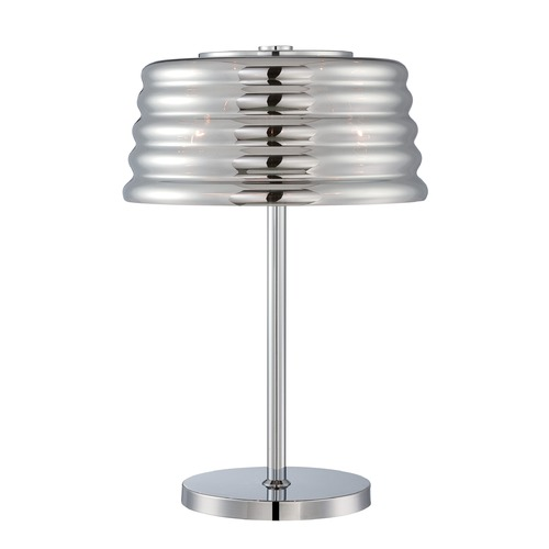 Lite Source Lighting Lite Source Venice Chrome Table Lamp with Fluted Shade EL-30135