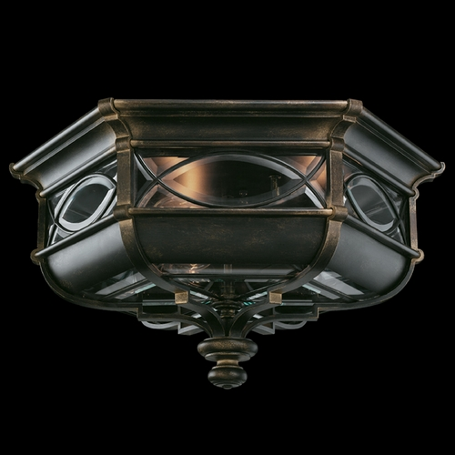 Fine Art Lamps Fine Art Lamps Warwickshire Dark Wrought Iron Patina Close To Ceiling Light 611682ST