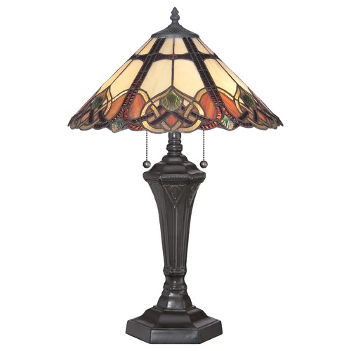 Quoizel Lighting Quoizel Cambridge Vintage Bronze Table Lamp with Conical Shade TFCB6325VB