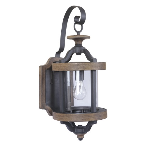 Craftmade Lighting Craftmade Lighting Ashwood Textured Black/whiskey Barrel Outdoor Wall Light Z7914-14