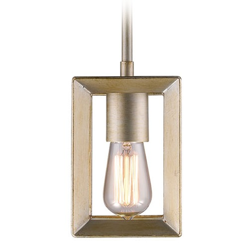 Golden Lighting Golden Lighting Smyth White Gold Mini-Pendant Light 2073-M1L WG