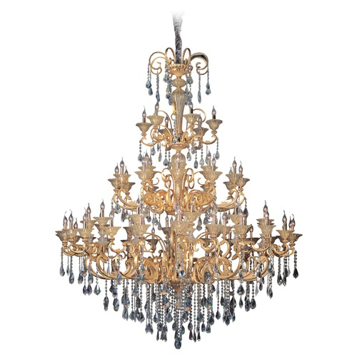 Allegri Lighting Legrenzi 66 Light Crystal Chandelier w/ Antique Silver Leaf 10455-006-FR001