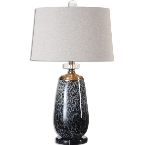 Uttermost Lighting Uttermost Vergato Charcoal Glass Table Lamp 26687